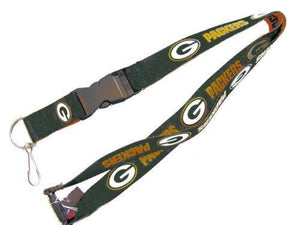 Green Bay Packers reversible lanyard - keychain badge holder