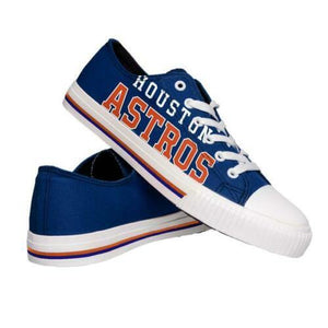 Houston Astros Shoes - Men's Low Top Canvas Logo Shoe