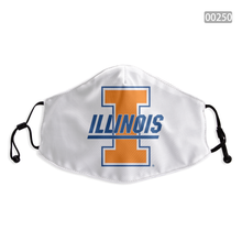 Load image into Gallery viewer, Illinois Fighting Illini Face Mask - Reuseable, Fashionable, Washable