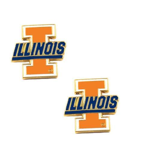 Illinois Fighting Illini earrings - post stud earrings