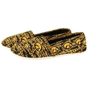 Iowa Hawkeyes Shoes - Womens Script Print Canvas Shoes