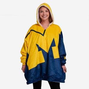 Michigan Wolverines Pullover - Hooded Reversible Big Logo