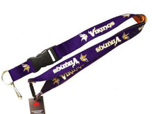 Load image into Gallery viewer, Minnesota Vikings reversible lanyard - keychain badge holder