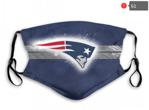 New England Patriots Face Mask - Reuseable, Fashionable, Several Styles