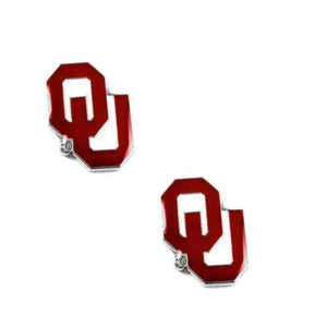 Oklahoma Sooners earrings - post stud earrings