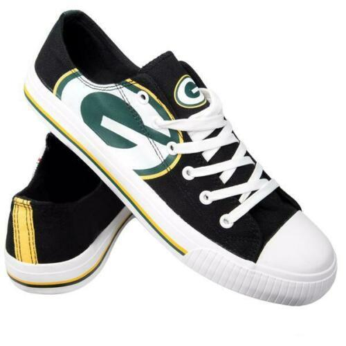 Green Bay Packers Shoes - Men's Low Top Canvas Logo Shoe