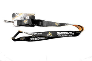 Pittsburgh Penguins reversible lanyard - keychain badge holder