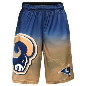 Los Angeles Rams Shorts - Gradient Big Logo Training Shorts
