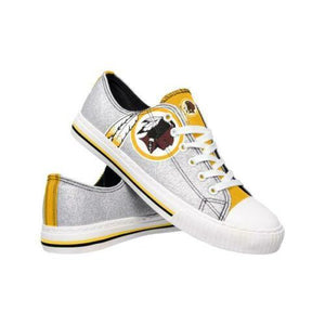 Washington Redskins Shoes - Womens Glitter Low Top Canvas Shoe