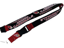 Load image into Gallery viewer, Arizona Cardinals reversible lanyard- keychain badge holder