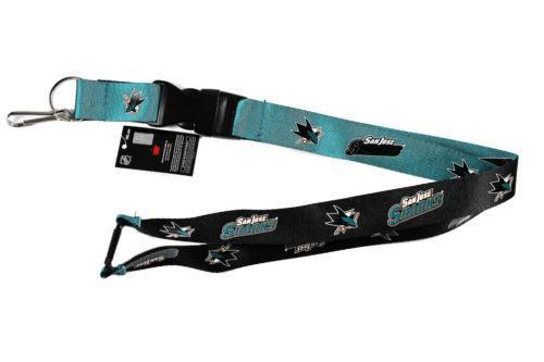 San Jose Sharks reversible lanyard - keychain badge holder