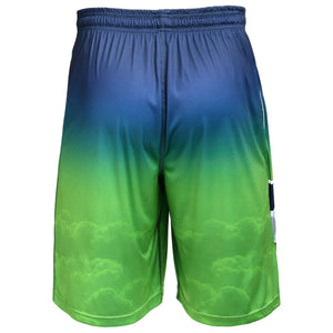 Seattle Seahawks Shorts - Gradient Big Logo Training Shorts