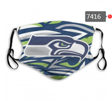 Load image into Gallery viewer, Seattle Seahawks Face Mask - Reuseable, Fashionable, Several Styles