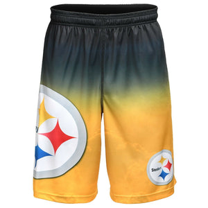 Pittsburgh Steelers Shorts - Gradient Big Logo Training Shorts
