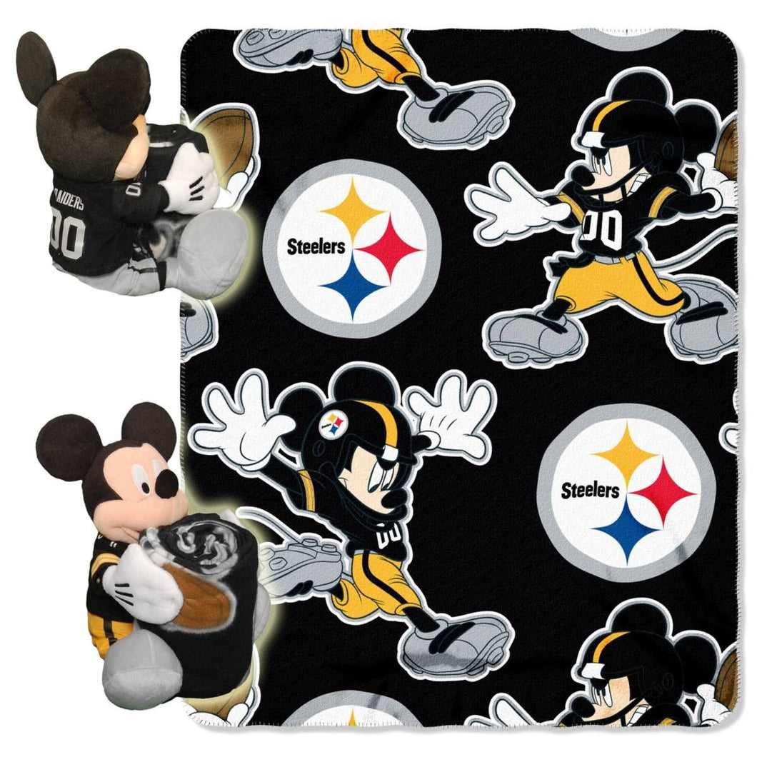 Pittsburgh Steelers Blanket - Mickey Hugger and Fleece Throw Set
