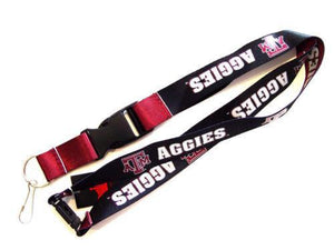 Texas A&M Aggies reversible lanyard keychain