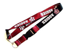 Load image into Gallery viewer, Texas A&M Aggies reversible lanyard keychain