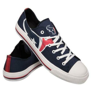 Houston Texans Shoes - Men's Low Top Canvas Logo Shoe