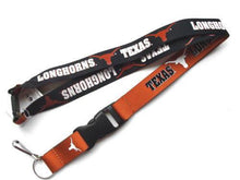 Load image into Gallery viewer, Texas Longhorns reversible lanyard keychain