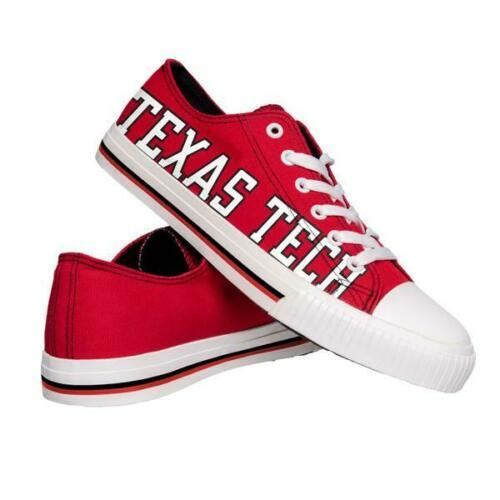 Texas Tech Red Raiders Shoes - Mens Low Top Big Logo Canvas