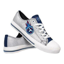 Load image into Gallery viewer, Tennessee Titans Shoes - Womens Glitter Low Top Canvas Shoe