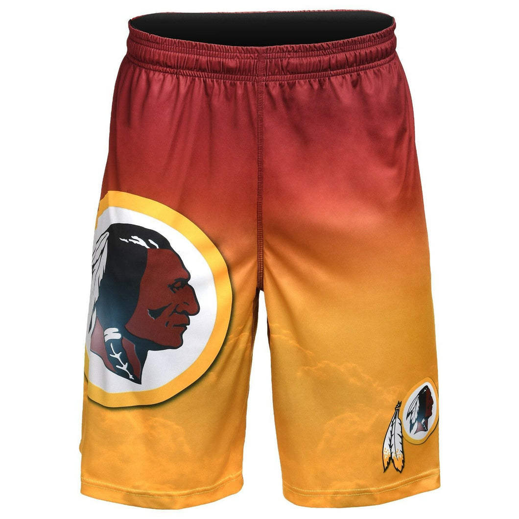 Washington Redskins Shorts - Gradient Big Logo Training Shorts