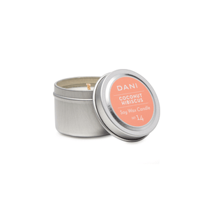 DANI Coconut Hibiscus Scented Soy Candle Tin 6.0 oz