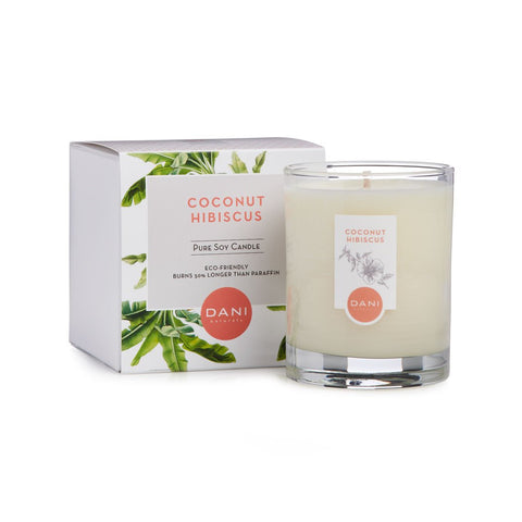 DANI Coconut Hibiscus Scented Soy Candle 7.5 oz