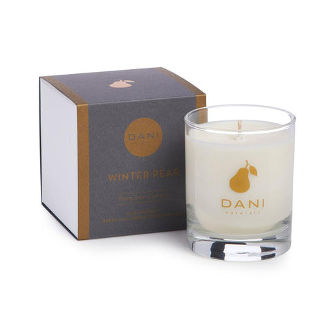 DANI Winter Pear Holiday Scented Soy Candle 7.5 oz