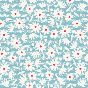 Bon Voyague -Paperflower Teal   -100257- 1/2YD