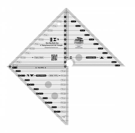 Multi-Size Flying Geese and 45/90 Degree Triangle Creative Grids Ruler