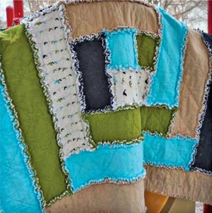 Baby Rag Quilt by Cut Loose Press for Creative Grids