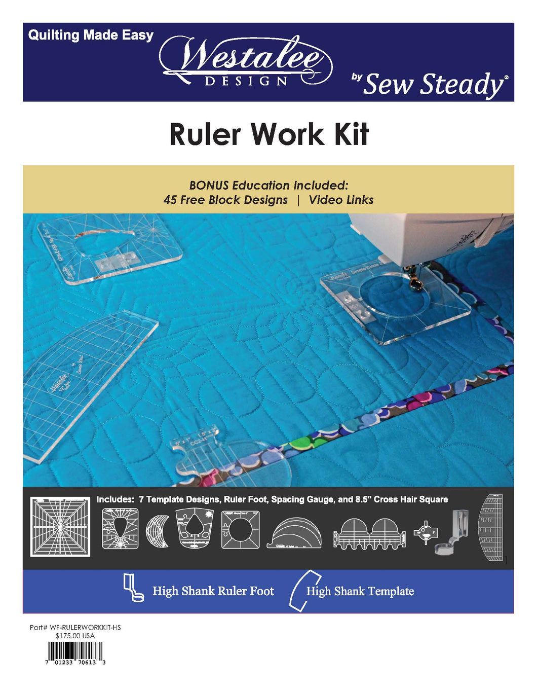 Ruler Work Kit and Janet's Ruler Quilt Design Book