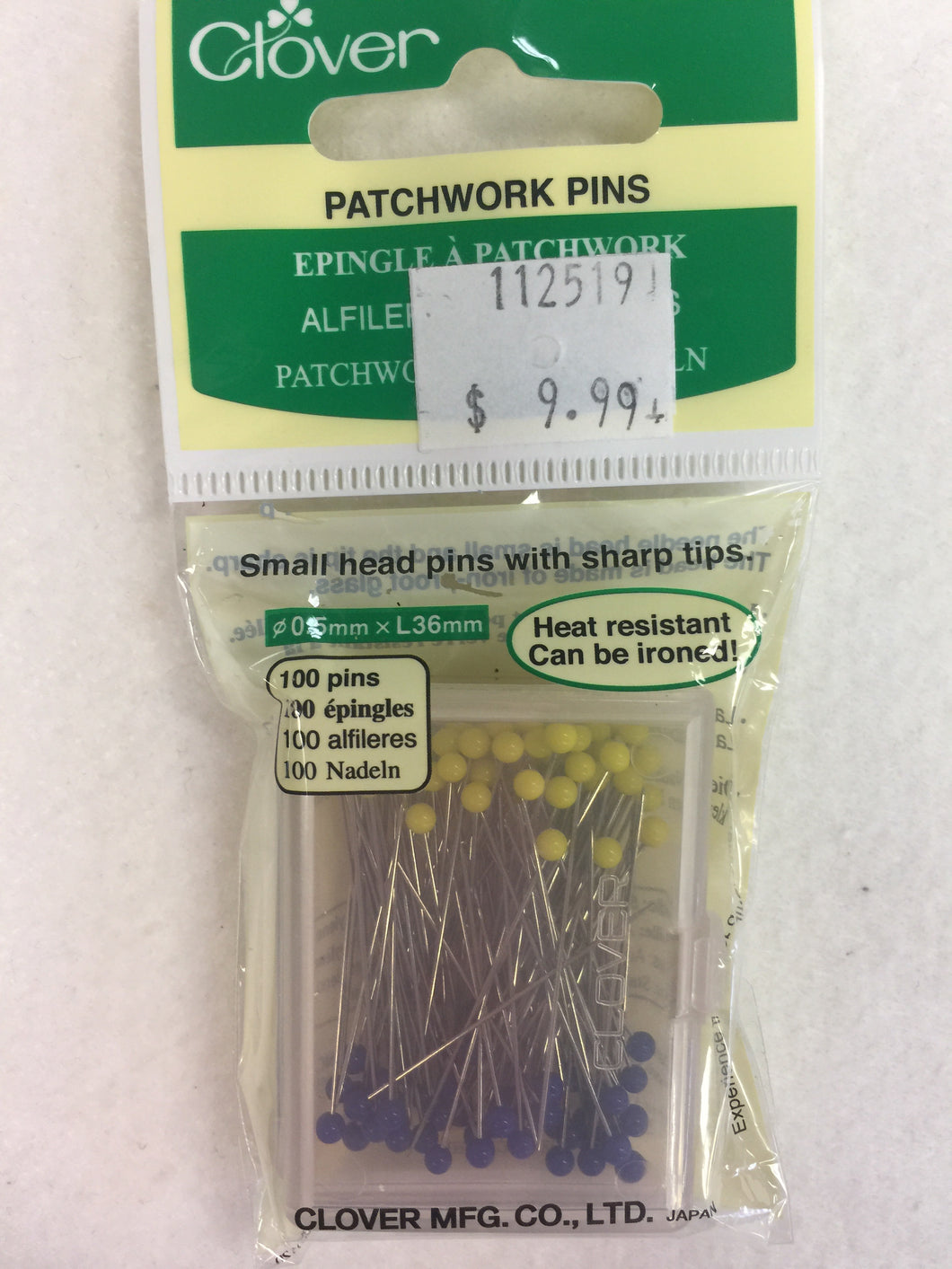 Patchwork Pins by Clover