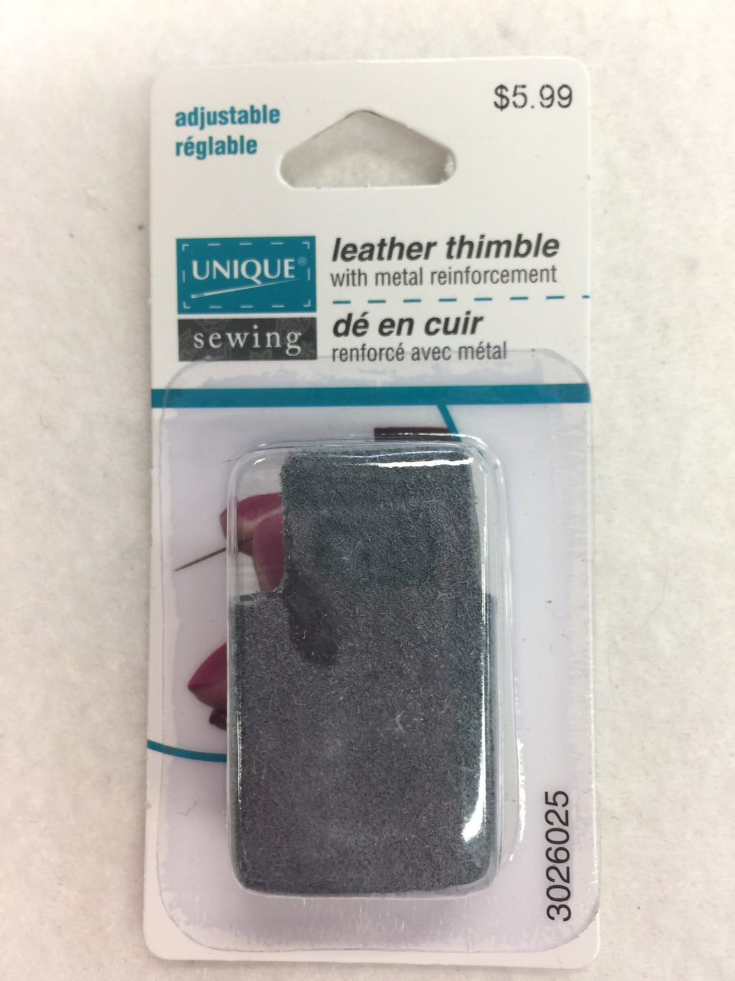 Leather Thimble with metal reinforcement