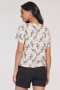 Short Sleeved Crossover Blouse