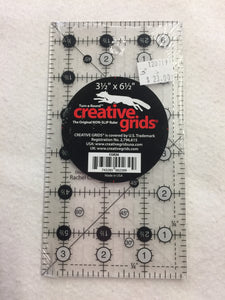 Creative Grids Quilt Ruler 3-1/2in x 6-1/2in