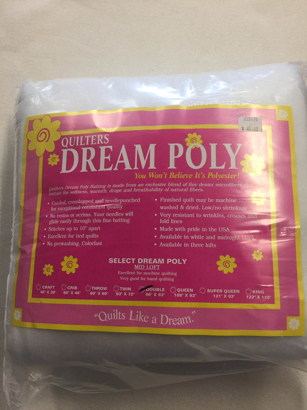 Quilters Dream Select Poly Double 96X93
