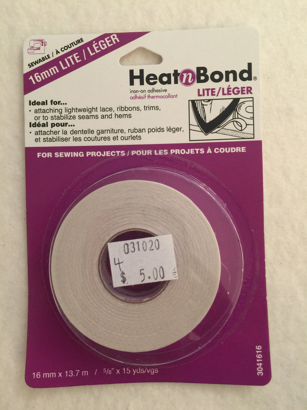 Heat n Bond lite 'hem tape'