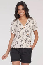 Load image into Gallery viewer, Short Sleeved Crossover Blouse