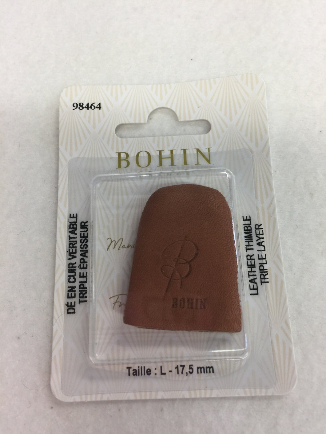 Leather Thimble - large Bohin