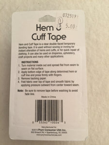 Hem and Cuff Tape
