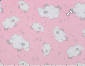 Baaa Cuddle Blush Prints 1/2 YD