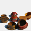 Wooden Pashtun Spice Containers