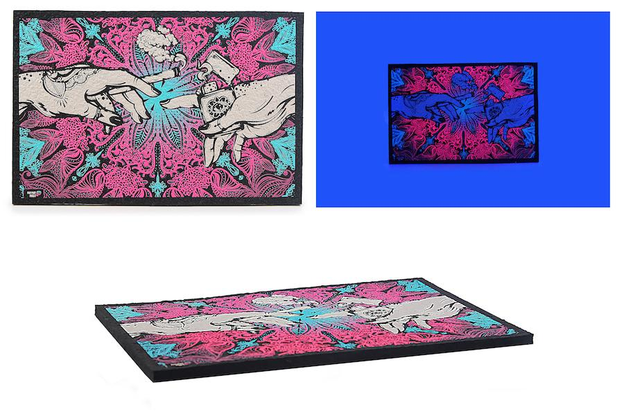 Puff Puff Pass It - UV Light Dab Mat