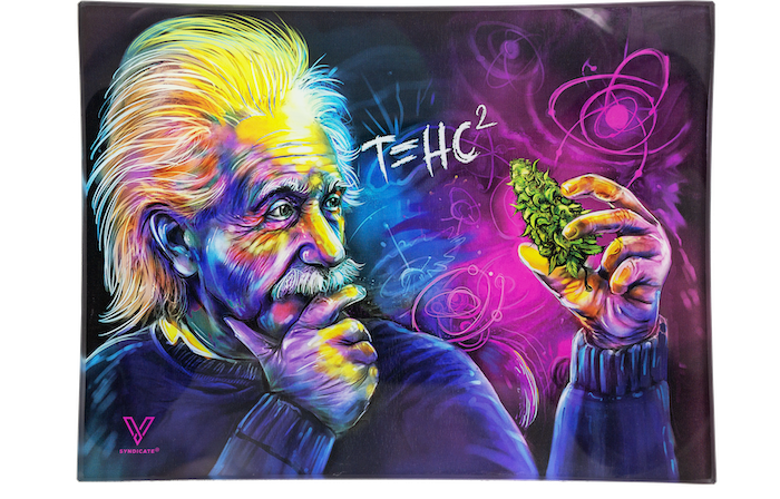 T=HC2 Einstein Glass Rolling Tray