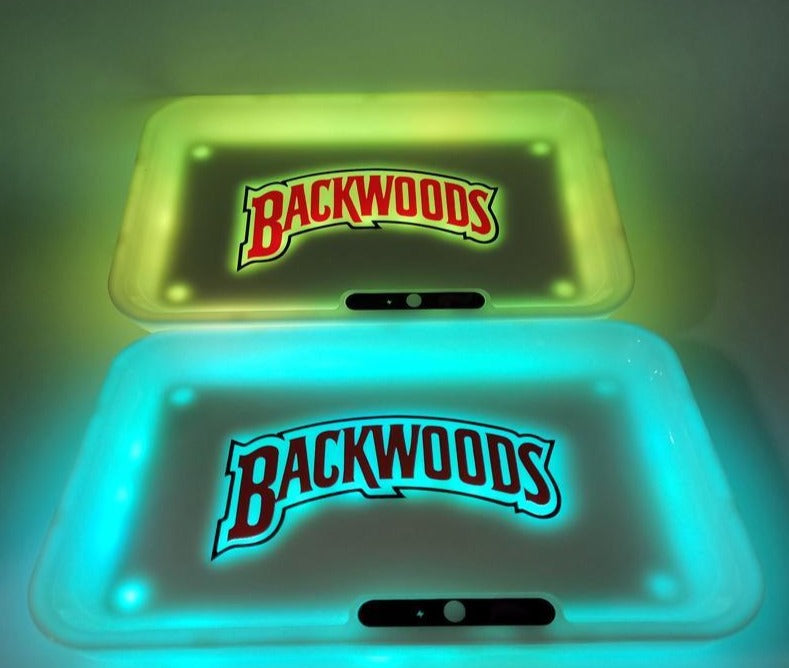 Details about  /Glow Tray x Backwoods Yellow LED Rolling Tray Party Mode With Colors