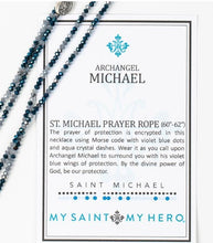 Load image into Gallery viewer, PROTECTION ARCHANGEL MICHAEL MORSE CODE PRAYER ROPE