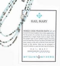 Load image into Gallery viewer, HAIL MARY MORSE CODE PRAYER ROPE