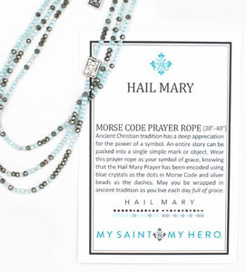 HAIL MARY MORSE CODE PRAYER ROPE